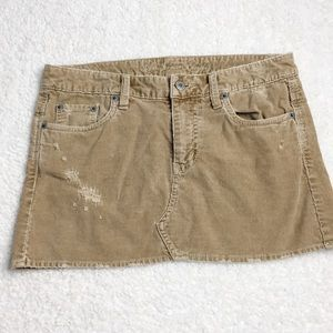 American Eagle Corduroy Mini Skirt Size 2